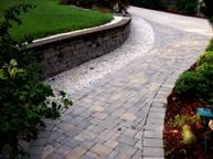Paver walkways and walls
